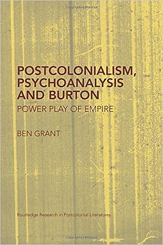 Postcolonialism, Psychoanalysis and Burton (Routledge