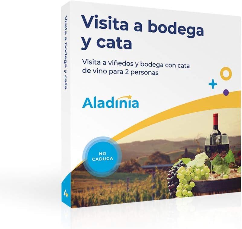 ALADINIA Caja Regalo Experiencias Visita a Bodega y Cata para 2 Personas con Validez Ilimitada | Planes únicos de Enoturismo para Elegir en España