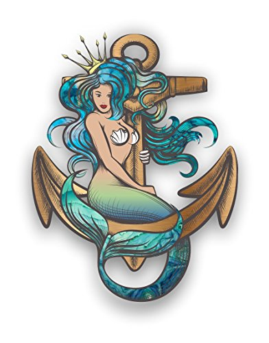 Mermaid Anchor car truck graphic custom sticker laptop decal