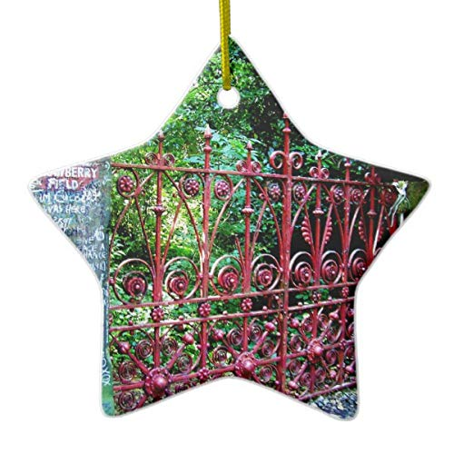 Strawberry Field Gates Liverpool UK Ceramic Ornament (Uk Christmas Personalized Ball Ornaments)