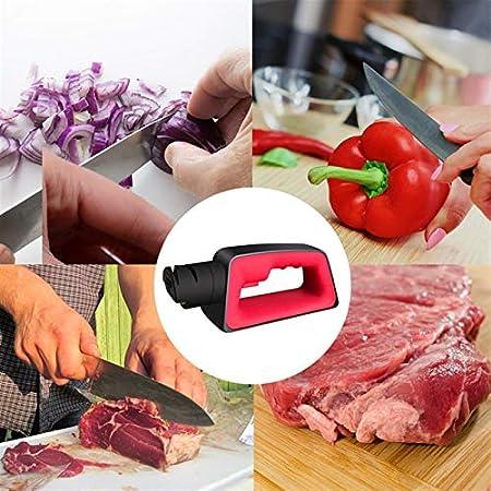 MLJ Chef Afilador de Cuchillos Eléctrico Kit de Herramientas de Afilado de Tijeras Recubierto de Diamante de Calidad, para Cuchillo de Cerámica Y Cuchillo de Acero Inoxidable