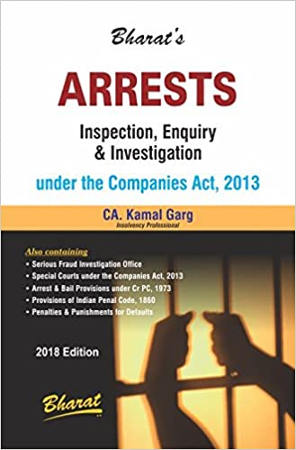 ARRESTS INSPECTION ENQUIRY & INVESTIGATION UNDER THE COMPANIES ACT,2013