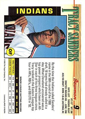 Amazon.com: 1993 Bowman Baseball #9 Tracy Sanders Cleveland ...