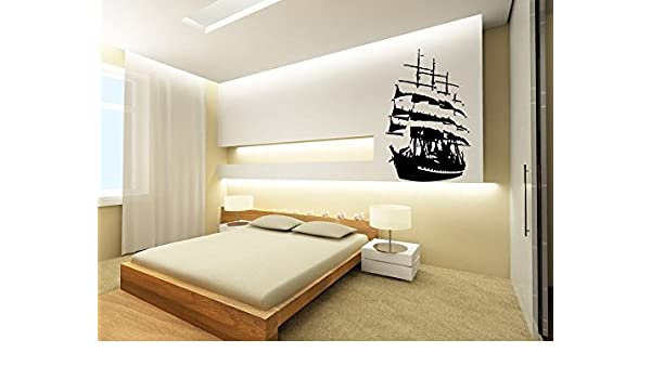 Amazon com pirate ghost ship wall art sticker decal ar15 home kitchen