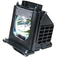 Mitsubishi OEM(Original Bulb and Generic Housing) 915P061010, WD-57733, WD-57734, WD-57833, WD-65733, WD-65734, WD-65833, WD-73733, WD-73734, WD-73833, WD-C657, WD-Y577, WD-Y657 RPTV Lamp with Housing