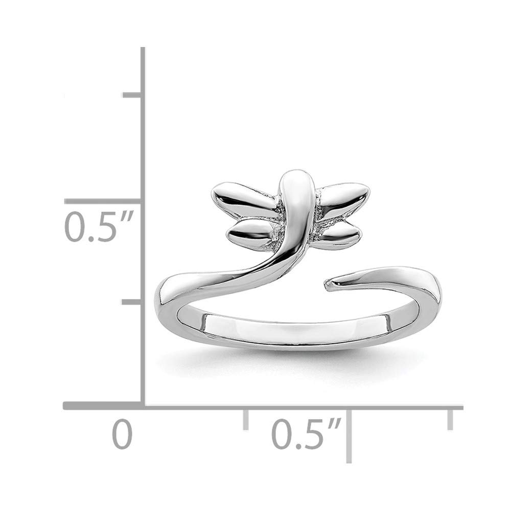 Sonia Jewels Sterling Silver Dragonfly Toe Ring