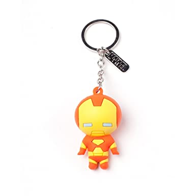 Official Marvel Comics Iron Man Character 3D Rubber Keychain ...