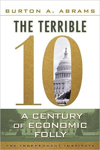 55d19148c08 The Terrible 10  A Century of Economic Folly  Burton A Abrams   9781598131420  Amazon.com  Books
