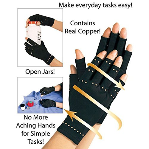 Dr O Wellness Copper Infused Arthritis Compression Gloves by Dr O Wellness