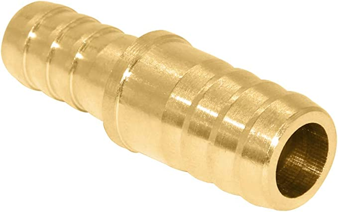 Hex Union Brass Fitting Water//Fuel//Air 2 Pack Joyway 1//4 to 3//8 Reduce ID Hose Barb Splicer