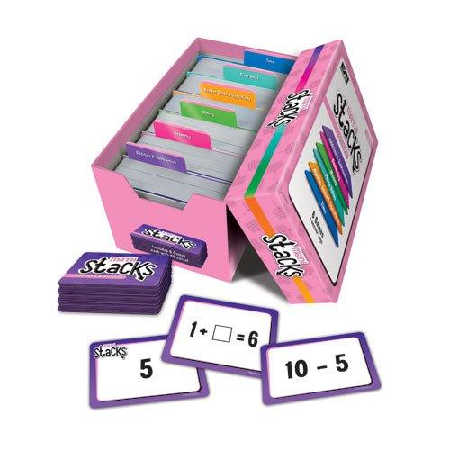 EAI Education Math Stacks Classroom Game, Set of 6: Grades 1-2