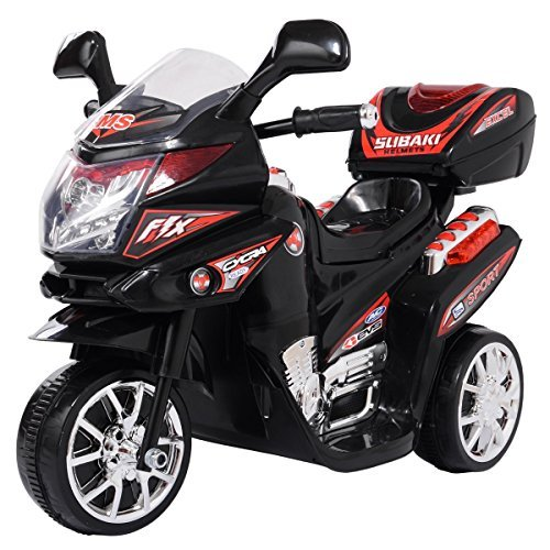 Cheapest Prices! LAZYMOON 3 Wheels Kids Ride on Toy Motorcycle 6V Battery Powdered Electric Bicycle ...