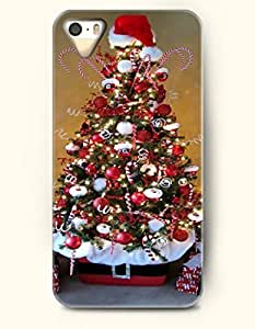 Merry Christmas Xmas Tree With Santa Claus Hat - OOFIT iPhone 4 4s Case