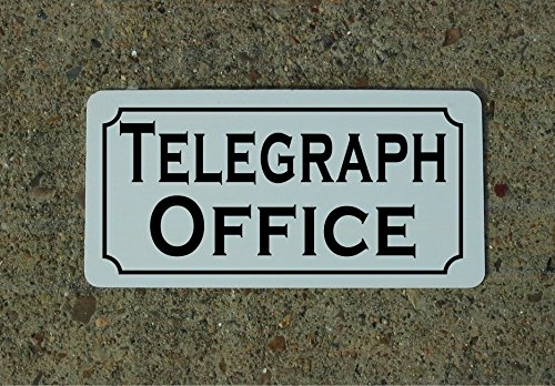 TELEGRAPH OFFICE Vintage Style Metal Sign Decor