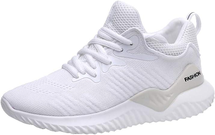 Proumy 💋 Zapatos para Correr para Mujer Malla de Aire Zapatillas de Deporte Transpirable Ligero Zapatos Casuales Moda Pisos de Las Mujeres al Aire Libre Zapatos para Correr: Amazon.es: Hogar