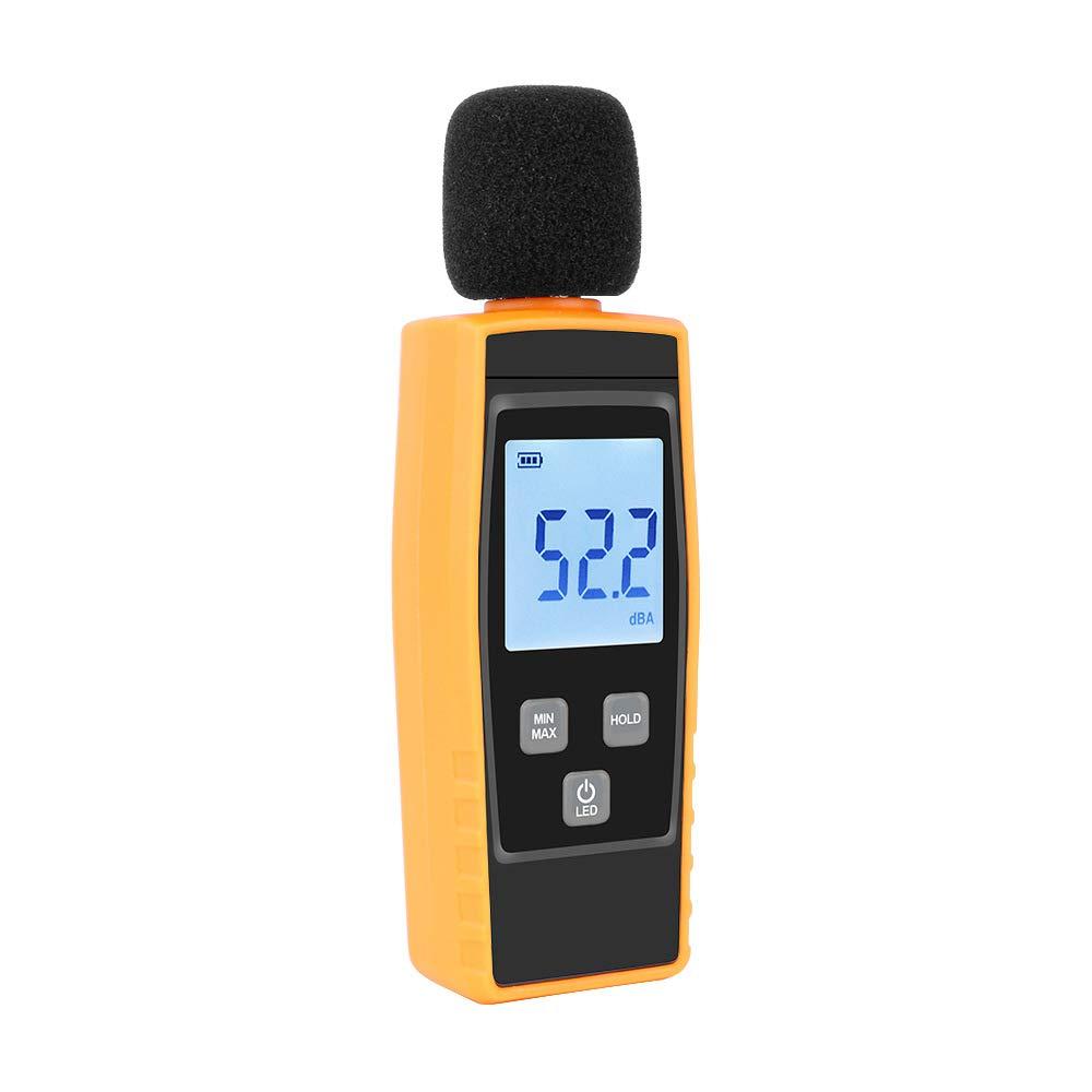 Schallpegelmessgerä t, WULAU Digital Sound Level 30-130dB LCD Display, Digitaler Schallpegel Dezibel Meter Logger Tester Gerä uschmessung
