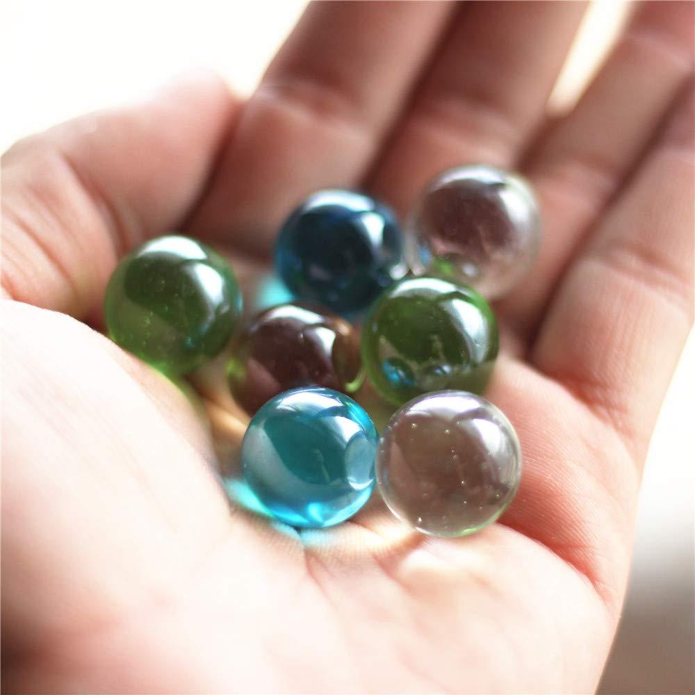 GreatTony Marbles para ni/ños 16mm 50 canicas transparentes con bolsa de lunares con cremallera el mejor regalo para ni/ños m/ármoles planetarios m/ármoles de vidrio