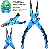 Bite Fishing Tackle® Premium Aluminum Saltwater Fishing Pliers - Stainless Steel Jaws - Tungsten Carbide Cutters - Rubber Insert Grips - 2015 EFTTEX Best New Products Award Manufacturer