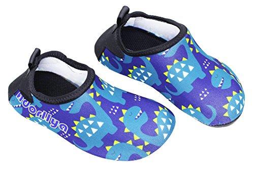 Qevellya Kids Water Shoes Swim Slip on Barefoot Aqua Socks Shoes for Beach Pool Surfing Boys Girls Toddler by Qevellya (Image #1)
