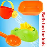 YIMORE 4 in 1 Bath Beach Toys Set Plastic whale Shaped Water Wheel for Kids Boys Girls,Random Color
