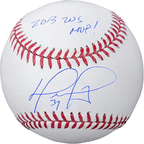 David Ortiz Boston Red Sox Autographed Baseball with 2013 WS Champs Inscription - Fanatics Authentic Certified - David Autographed Baseball