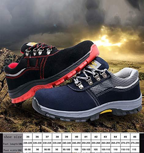 Bajo Livianos Entrenamiento De Laboral Para Construcción Hombres Zapatos Botas Antideslizantes Seguridad Yxwa Seguro B Alpinismo Desgaste BPq87x