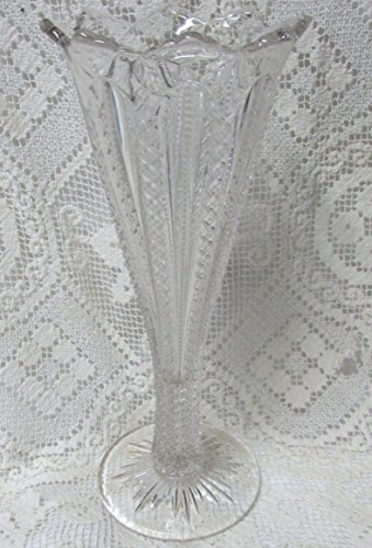 Depression Pressed Glass Tall Fluted Top ()
