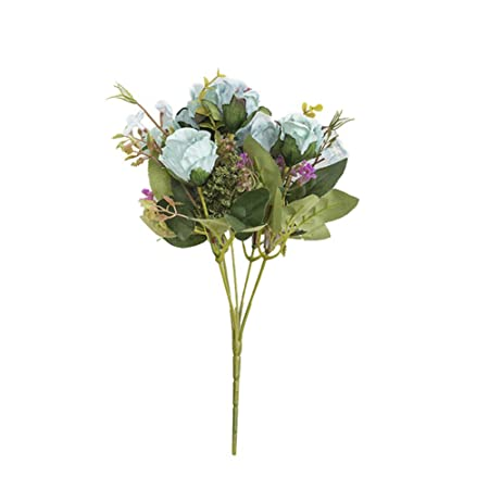 Fattigger - 5 Rosas Artificiales para decoración de Bodas, centros ...