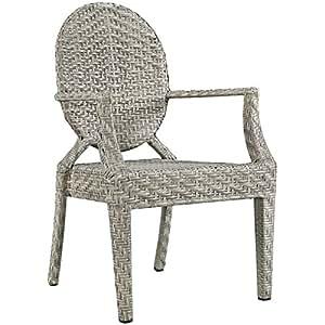 Casper Dining Outdoor Patio Armchair in Light Gray