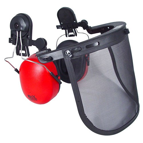 Radians HG-410BWM Hard Hats & Headgear, Cap Adapters, HG410B with Wire Mesh Visor & Ear Muff