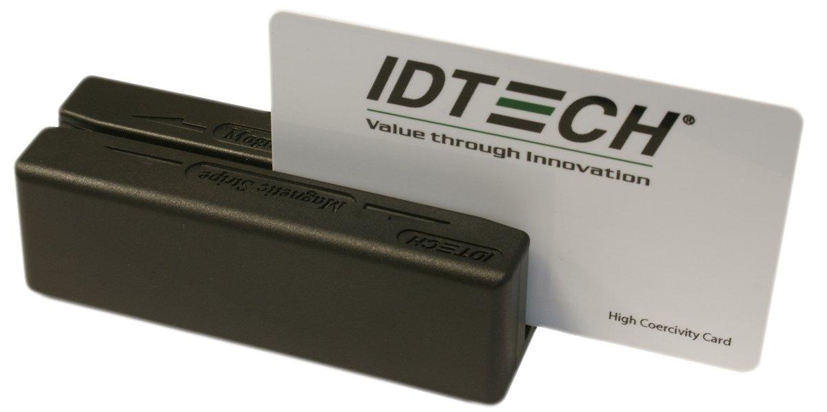 Idtech IDMB-354133B MiniMag Duo Dual Head MagStripe Reader, Track 3, USB, Keyboard Emulation, Black