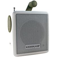 Kikkeland Solar Powered Crank Radio - White