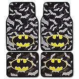 #1: Batman Super Hero Carpet Floor Mats 4 Piece Warner Brothers Licensed Products
