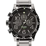 Nixon A486-1885 Mens 48-20 Chrono Polished Gunmetal Lum Watch