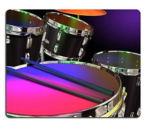 MSD Mouse Pad Natural Rubber Mousepad IMAGE of music drum instrument play percussion musical beat rhythm band sound rock musician metal snare chrome