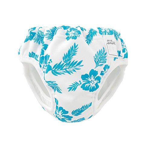(チャックル) chuckle *ベビースイム*ハイビスカス柄水遊び用おむつパンツ ブルー 100cm M4025-100-31