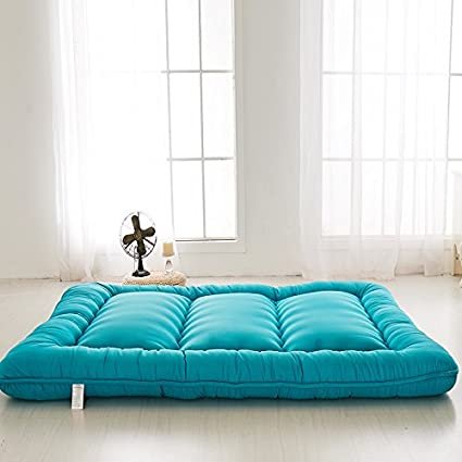 Colorful Mart Blue Futon Tatami Mat Japanese Futon Mattress Futons for Sale  Idea Gift for Women Men Gift for Mom Dad, Twin Size