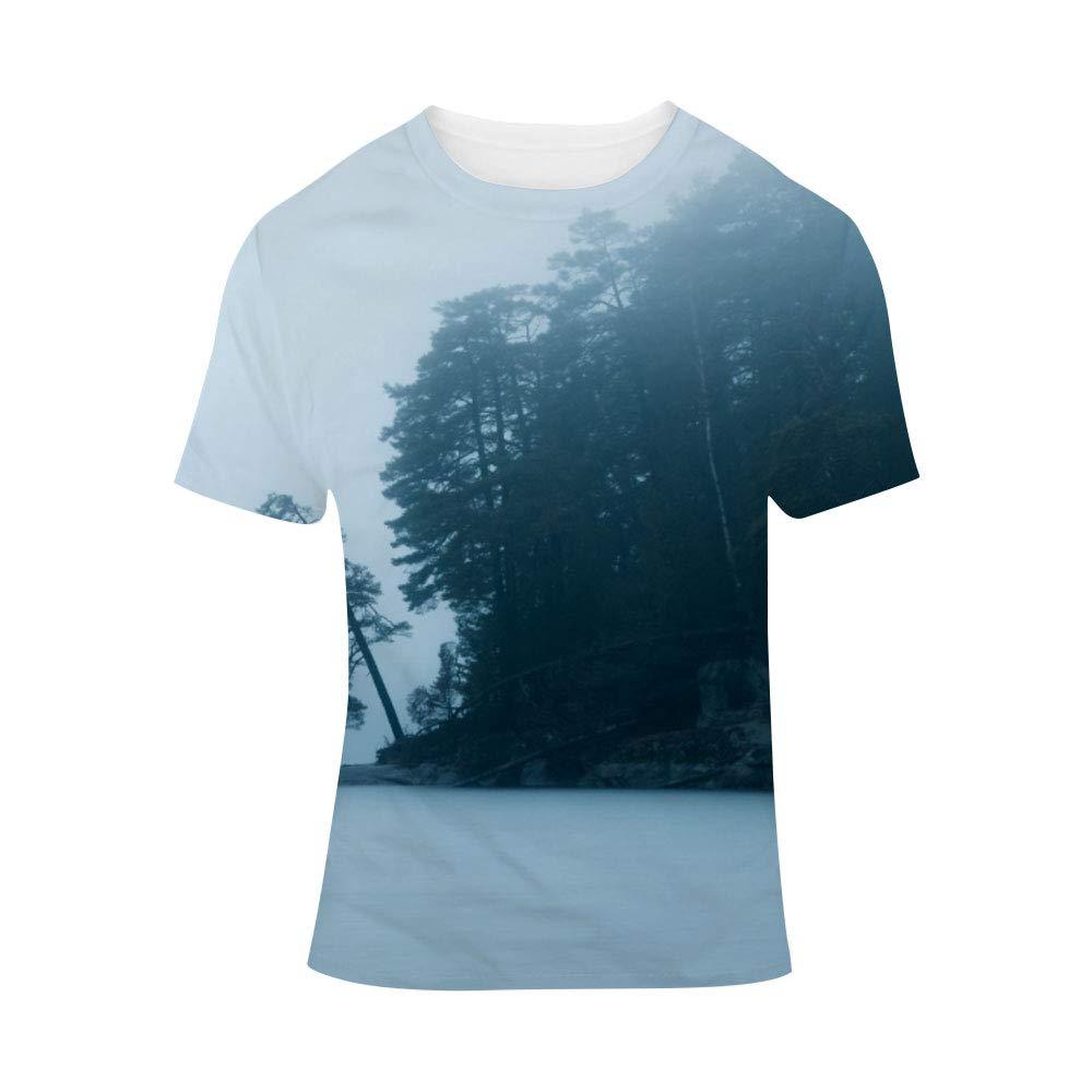bda045c85 Amazon.com: Unisex T-Shirt Round Neck Casual 3D Dye-Sublimation Print  Polyester Graphic Women Short Sleeve Men Top Tees: Clothing