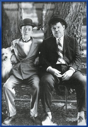 Laurel And Hardy Framed Photo