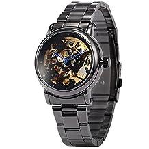 AMPM24 Classic Skeleton Dial Automatic Mechanical Women's Analog Steel Dress Wrist Watch PMW130