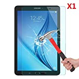 EVERMARKET Premium Tempered Glass 9H-Hardness Screen Protector Flim for Samsung Galaxy Tab E 9.6 Inch 9.6'' - 1 Pack