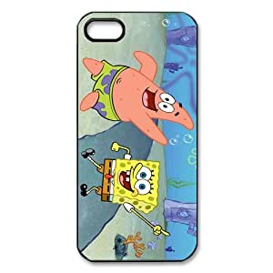 AZA Hard Case for iPhone 5, Spongebob Squarepants Patrick Star Protective iPhone Cover-Black/White