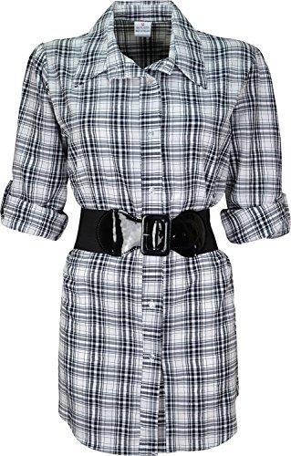 Traje de neopreno para mujer/diseño de cuadros camisa con para mujer correa a la cintura Design-4