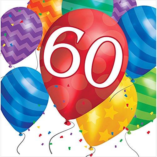 60th Birthday Serviettes - Creative Converting 667860 Napkins Tableware Items,