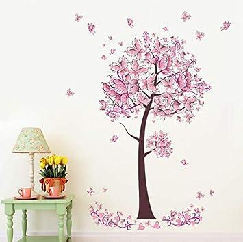 Arbre Salon Fleur Mural Applique Floral Sticker Papillon Zouyun b7vf6ygY