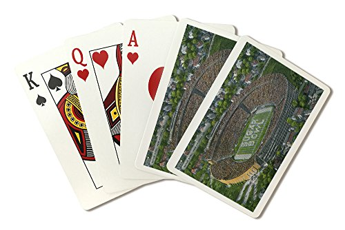 New Orleans, Louisiana - Aerial View of the Sugar Bowl (Playing Card Deck - 52 Card Poker Size with Jokers)