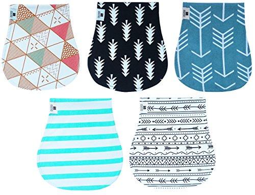 Baby Burp Cloths Girls Boys Waterproof Organic Bibs Rags 5 pretty pads