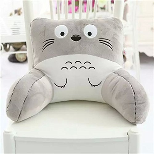Cute Cartoon Animal Soft Plush Car Seat Waist Rest Cushion Lumbar Support Waist Pillow (Totoro ...