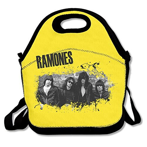 Ramones Lunch Bag Lunch Boxes, Waterproof Outdoor Travel Picnic Lunch Box Bag Tote With Zipper And Adjustable Crossbody Strap (Johnson Christmas Andre)