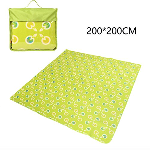 ERRU-Feuchtraum-Pad Camping Pad, Outdoor Portable Feuchtigkeitsfeste Pad Camping Zelt Schlafmatten (200  200CM) Waterproof Feuchtigkeit